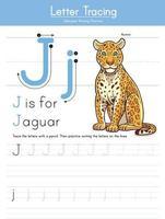 j para jaguar vetor