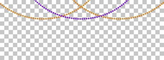 string guirlandas com bolas, isoladas em fundo transparente. ilustração vetorial vetor