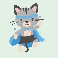 super-herói personagem animal fofo vetor