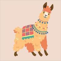 personagem de alpaca com diferentes vetores de emoção