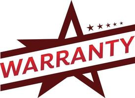 design de tag de promoção de loja de garantia para marketing vetor