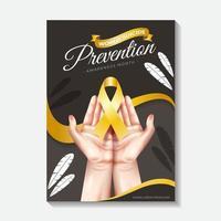 cartaz de prevenção do suicídio mundial vetor