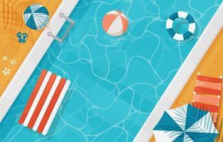 piscina no verão vetor