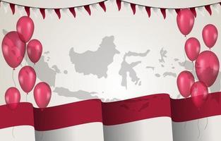 fundo do dia da independência da indonésia vetor