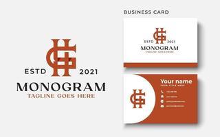 letra hg gh hg modelo de logotipo de monograma em ilustração vetorial de fundo branco isolado vetor