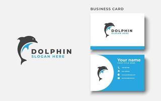 modelo de logotipo de golfinho em ilustração vetorial de fundo branco isolado vetor