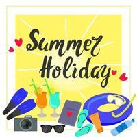 vetor de banner de férias de verão