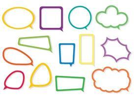 uma coleção de balões vetoriais de comunicação de fala e pensamento vetor