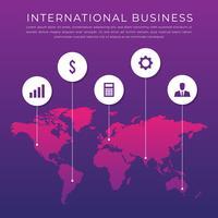 Ilustração de negócios internacionais de rede de logística global vetor