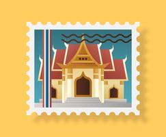 Selo postal de Bangkok vetor