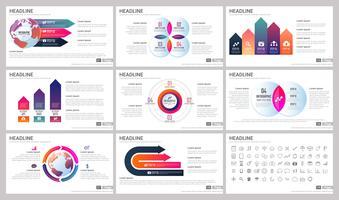 Elementos modernos de infográficos para modelos de apresentações vetor