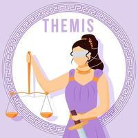 é uma maquete de postagem de mídia social violeta. titaness grego antigo. figura mitológica. modelo de design de banner da web. impulsionador de mídia social, layout de conteúdo. pôster, cartão para impressão com ilustrações planas vetor