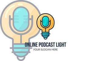 modelo de página de destino de podcast áudio show online vetor