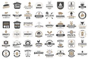 Restaurante Retro Vector Logo para banner