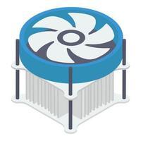 elementos de ventilador do processador vetor