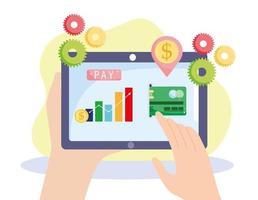 relatório de pagamento online vetor