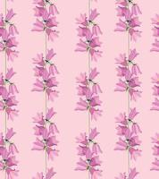 padrão floral sem emenda. textura ornamental do prado do bluebell da flor. fundo de violeta do campo de verão flores silvestres. vetor