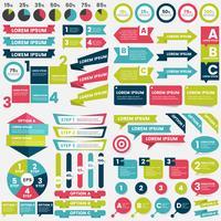 Vetor de modelo de design de infográficos