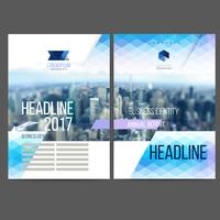 Relatório anual de design de modelo de vetor 2019