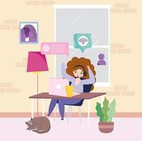 trabalho freelance remoto vetor