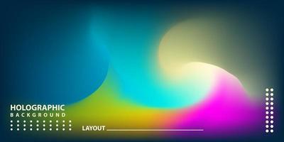 fundo gradiente moderno abstrato com holograma vetor