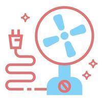 ilustração do projeto do ícone do ventilador elétrico vetor