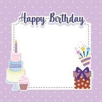 cartão de convite de aniversário vetor