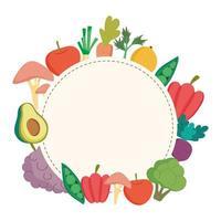 distintivo de comida saudável vetor