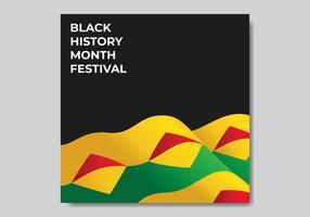 Cartão preto do mês da história vetor
