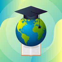 Ilustração em vetor conceito educação distância