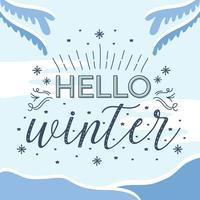 Olá vector de inverno
