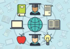 vetor de estudante de intercâmbio