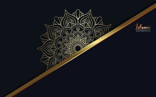 fundo ornamental de mandala de luxo vetor