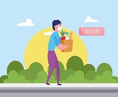 bolsa de entregador vetor