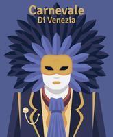 Carnevale Di Venezia Ilustração vetor