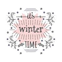 É vetor de tempo de inverno