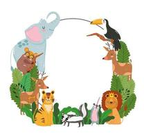 banner da natureza dos animais vetor