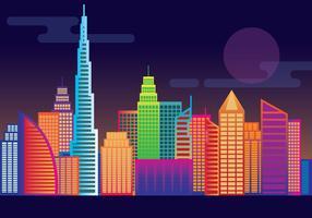 Skyline de Dubai vetor