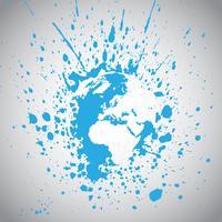 Ilustração em vetor terra globo