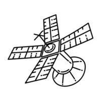 ícone de satélite. doodle desenhado à mão ou estilo de ícone de contorno vetor