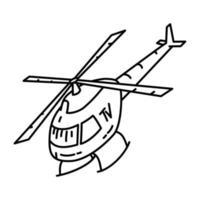 ícone de notícias do céu. doodle desenhado à mão ou estilo de ícone de contorno vetor