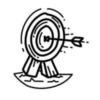 consistência de negócios mão desenhada ícone design, contorno preto, ícone do vetor. vetor