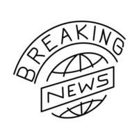 ícone de notícias de última hora. doodle desenhado à mão ou estilo de ícone de contorno vetor
