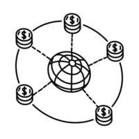 ícone do mercado. doodle desenhado à mão ou estilo de ícone de contorno vetor