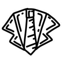 gravata de negócios desenhado à mão ícone design, contorno preto, ícone do vetor. vetor