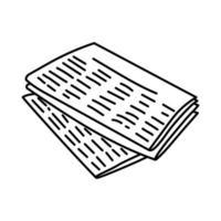 ícone do jornal. doodle desenhado à mão ou estilo de ícone de contorno vetor