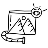negócio visual mão desenhada ícone design, contorno preto, ícone do vetor. vetor
