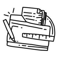 projeto de negócios mão desenhada ícone design, contorno preto, ícone do vetor. vetor