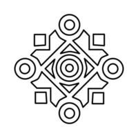ícone de ornamento islâmico. doodle desenhado à mão ou estilo de ícone de contorno vetor
