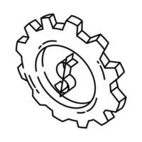 ícone de gerenciamento. doodle desenhado à mão ou estilo de ícone de contorno vetor